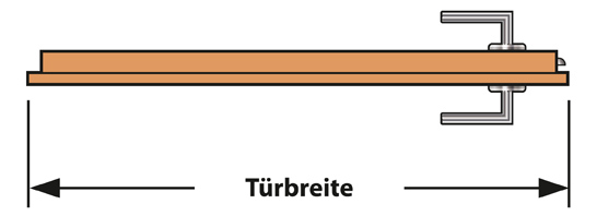 Standard türmaß  Anthrazit CPL Innentür eckige Designkante
