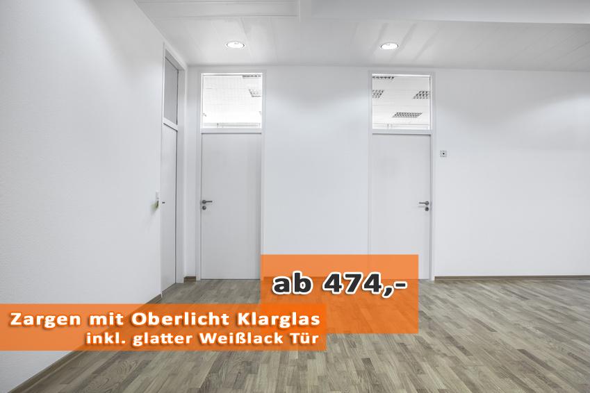 Türen und zargen  Maßgeschneiderte Türen und Zargen mit Oberlicht