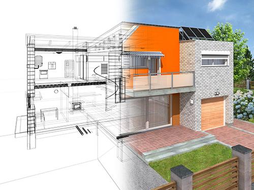 Modernes Wohnkonzept