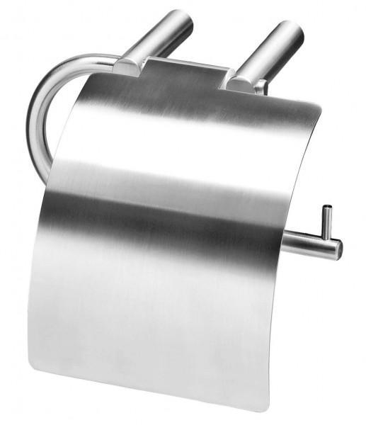 Toilettenpapierhalter Edelstahl mit Klappe