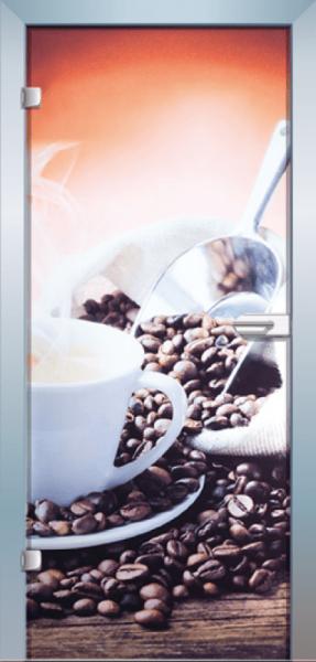 Ganzglastür Color Espresso