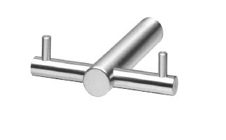 Handtuchhalter Edelstahl mit zwei festen Stiften