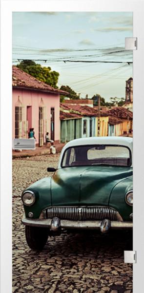 Ganzglastür Color Kuba