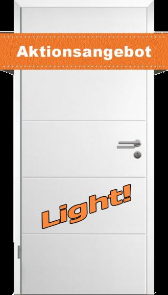 Styletür 1 Komplettpaket LIGHT mit Zarge und Griff