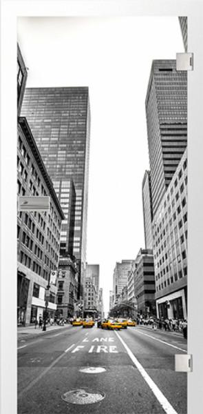 Ganzglastür Color New York